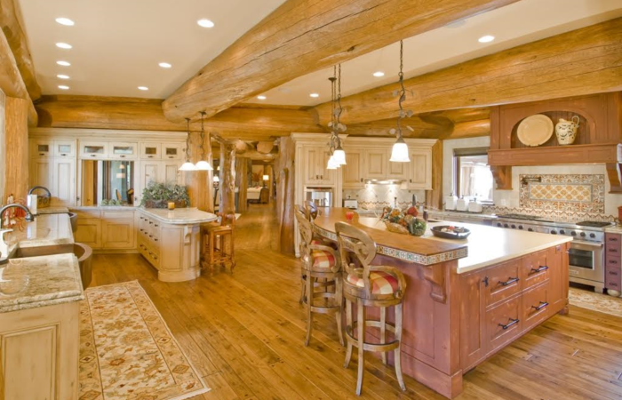 Tlc log homes gallery tlc log homes for Log home kitchens gallery